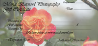 Oregon Rose gift certificate