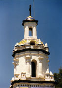 Mexican church spire, stock photo