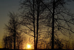 Fairbanks Sunset I, stock photo