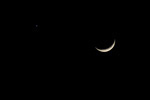 Venus and the Moon, stock photo