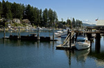 Gig Harbor & Mt. Rainier, stock photo