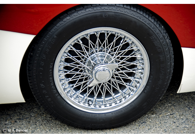 Image result for Austin Healey wire wheels