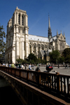 Notre Dame and Bridge Over the Seine, stock photo